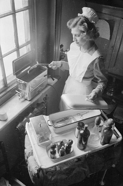 A nurse at Park Prewett Hospital in 1941. Author:Ministry of Information Photo Division Photographer