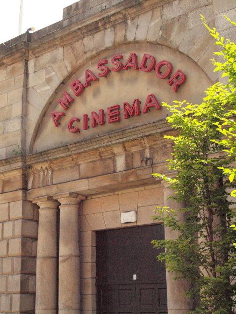 Ambassador Cinema old sign. Author: Smirkybec. CC BY-SA 3.0