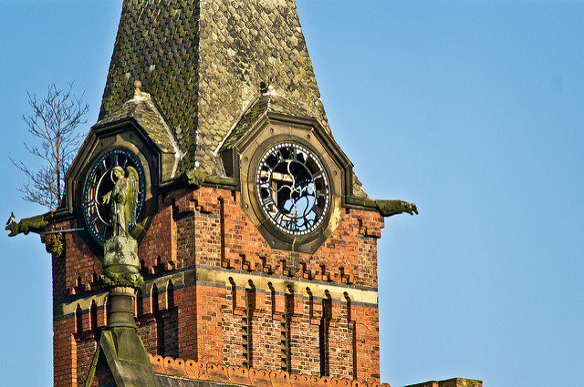 Close up of the clock tower. Author:paulCC BY 2.0
