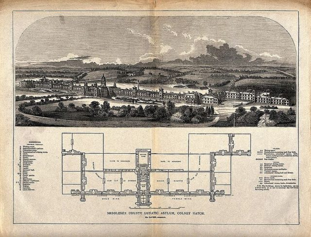 Colney Hatch ground plans. Author: Wellcome Library, London CC BY 4.0