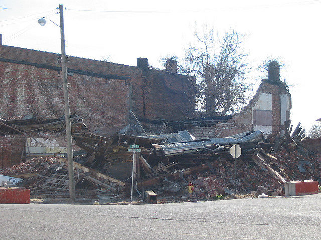 Demolished building. Author:hickory hardscrabbleCC BY 2.0