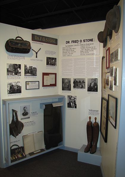 Dr Fred Stone, Sr. display at the Museum of Appalachia in Norris, Tennessee. Author: Brian Stansberry CC BY 3.0