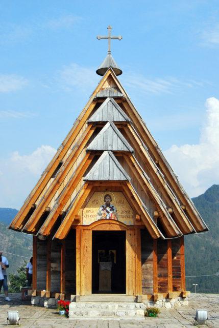 St. Sava church in Drvengrad. Author: tamburix. CC BY-SA 2.0
