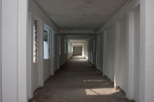 One of the long corridors of the hospital.Author:Brian Jeffery BeggerlyCC BY 2.0