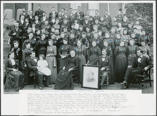 Photograph of the first-night shift staff.
