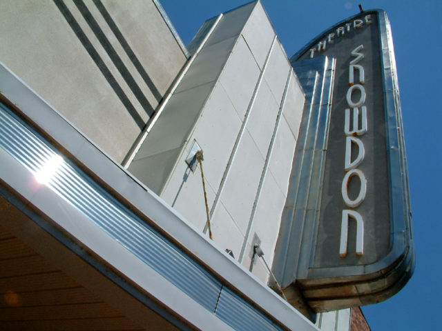 Snowdon Theater marquee. Author: Bill Wrigley. CC BY-SA 3.0