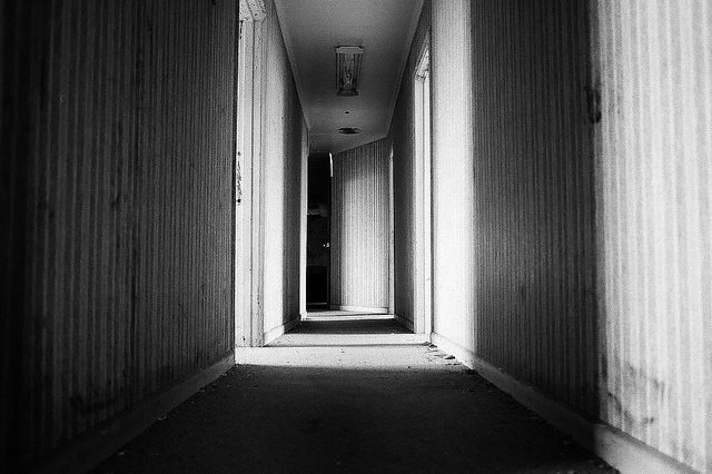 Wallpaper covered hallway. Author:Dan GroganCC BY 2.0