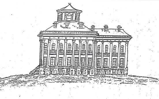 Sketch of Windsor mansion (May 1, 1863)