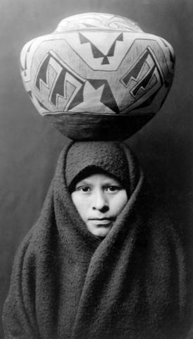 """Zuni girl with jar"" (c.1903)"
