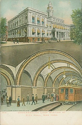 Early postcard showing the station c. 1913