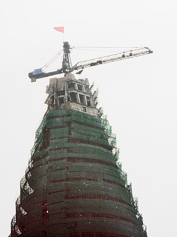 View of the top in September 2008, several months after construction resumed – Author: Mark Scott Johnson – CC BY 2.0