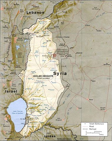 Map of the Golan Heights (1989)