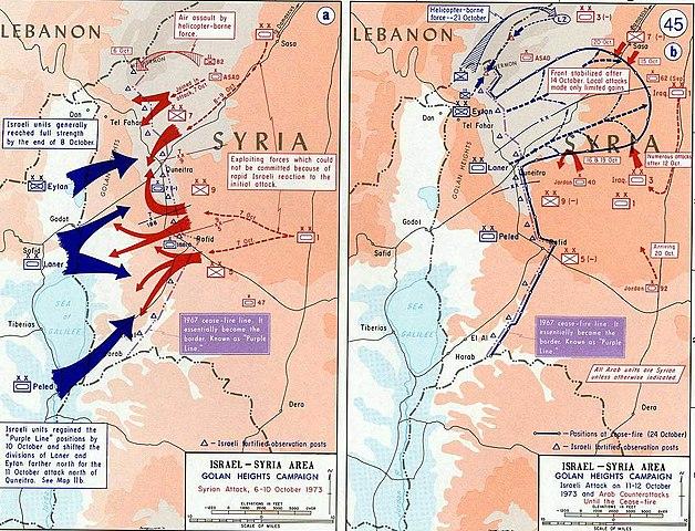 Golan Heights campaign during Yom Kippur War (Arab-Israeli War of 1973)
