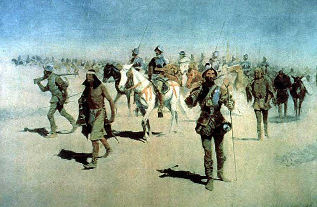 """""""Coronado Sets Out to the North"""", by the painter Frederic Remington"""