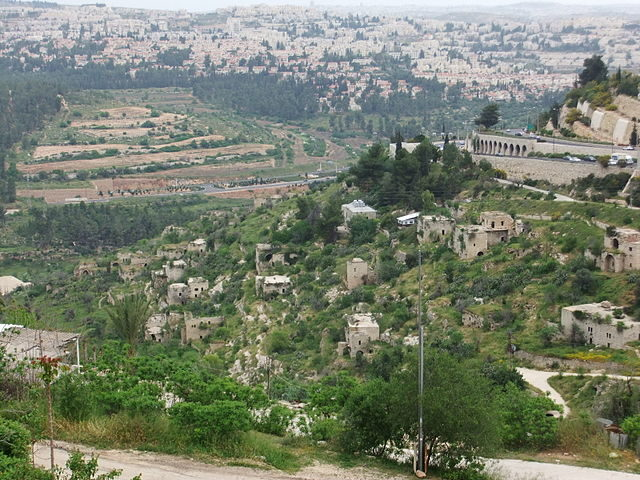 Panoramic view of Lifta Author: יעקב – CC BY-SA 3.0
