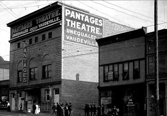 Pantages Theatre, Vancouver. Author: Unknown. Public Domain