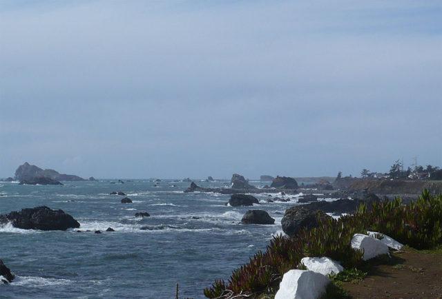 A treacherous part of the Pacific Ocean. Author:Ellin BeltzPublic Domain