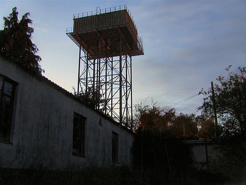 An abandoned tower inside the base. Author:Paulio GeordioCC BY 2.0