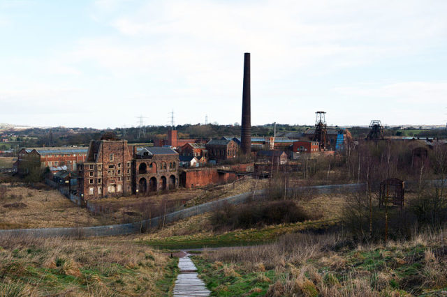 Chatterley Whitfield mine alternative view. Author:HalfmonkeyCC BY-SA 3.0