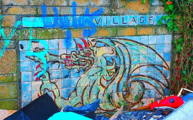 Dragon graffiti. Author:Richard SzwejkowskiCC BY-SA 2.0