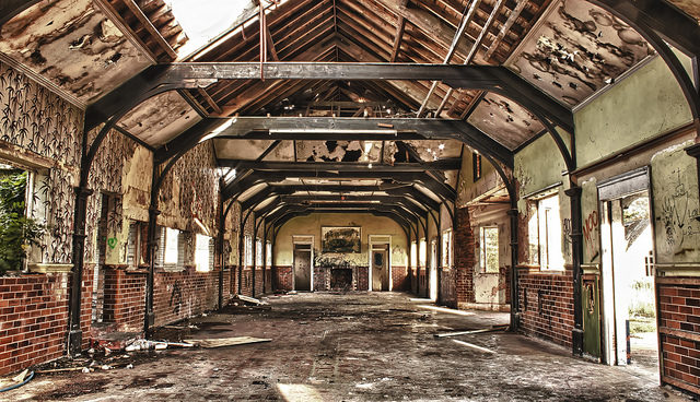 Inside the abandoned buildings. Author:Andrew WalchCC BY-ND 2.0