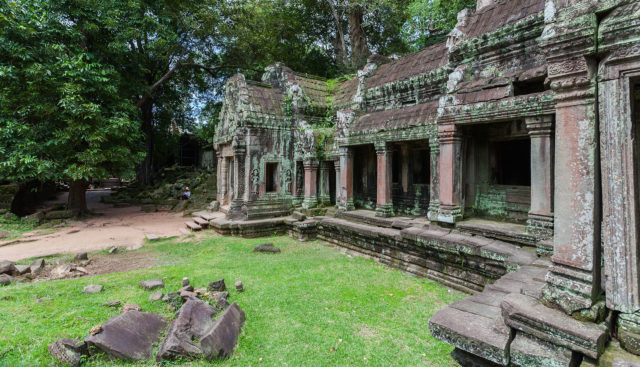 It was built by King Jayavarman VII as a gift to his mother. Author: Diego Delso. CC BY-SA 3.0