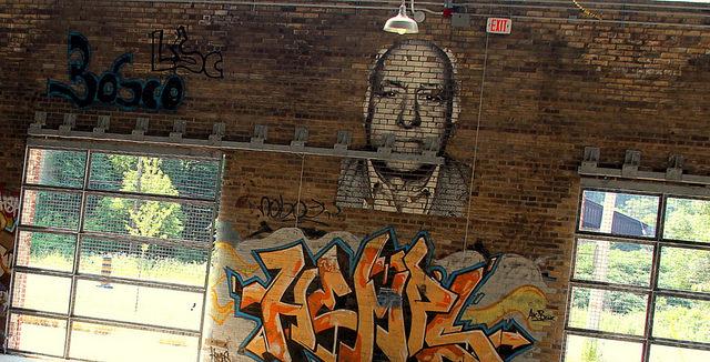 Master level graffiti inside the plant. Author:BahmanCC BY 2.0
