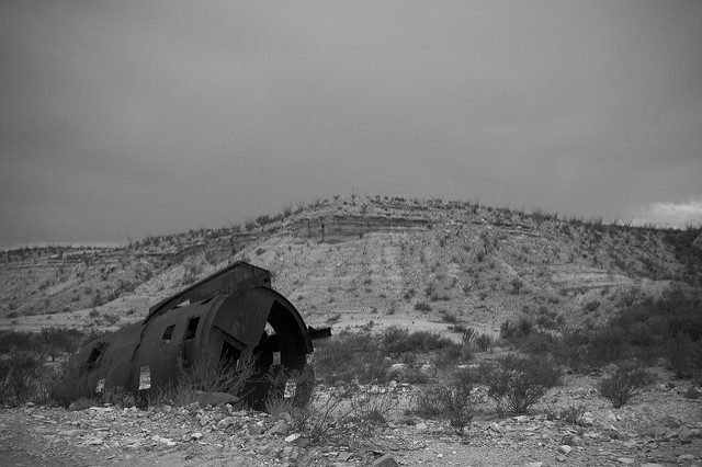 Part of the abandoned equipment. Author:Steve DaviesCC BY-ND 2.0