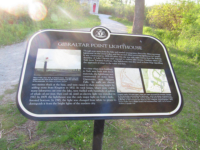 Part of the Gibraltar Point Lighthouse history. Author:Doug KerrCC BY-SA 2.0