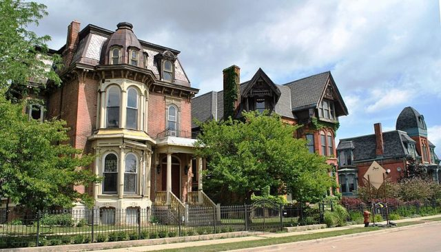 Part of the houses in Brush Park. Author: Elisa.rolle CC BY-SA 4.0