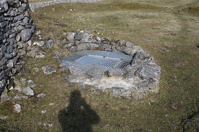 Sealed mining shaft. Author:Anthony Stewart VardyCC BY 2.0