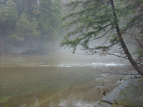 Steaming hot springs. Author:Doug KerrCC BY-SA 2.0