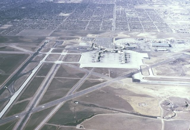 The airport, photo was taken in 1966 alternative view. Author: EditorASC CC BY-SA 3.0
