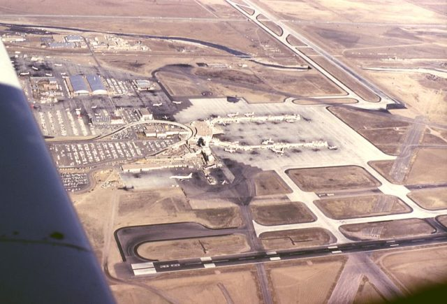 The airport, a photo was taken in 1966. Author: EditorASC CC BY-SA 3.0