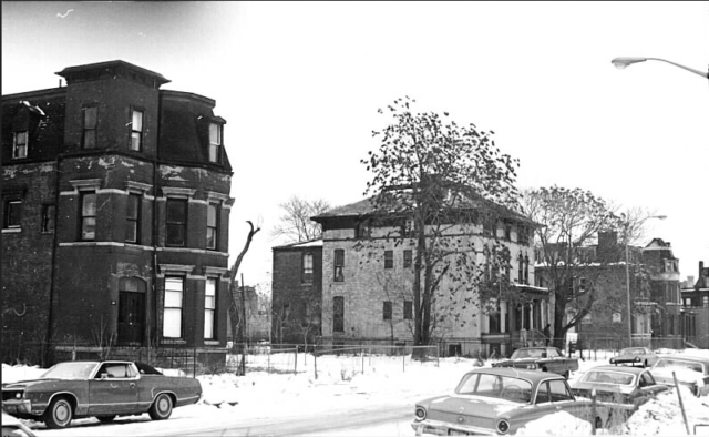 Alfred Street scene from 1970. Author: State of Michigan Public Domain