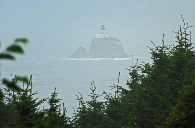 The lighthouse during dense fog. Author:Anita PuliarfCC BY 2.0