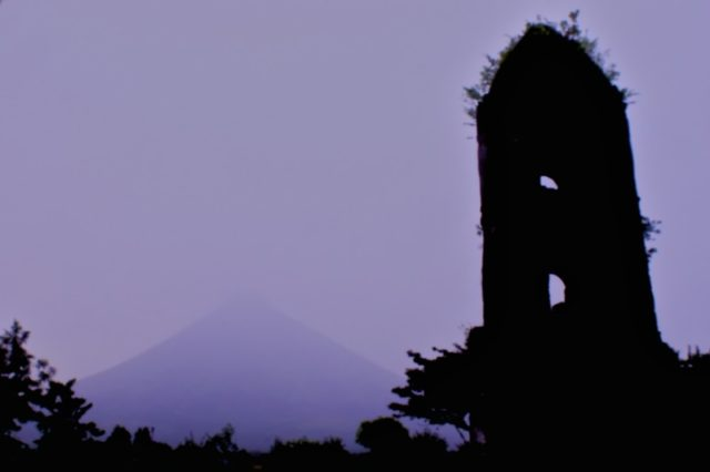 The silhouette of the bell tower.