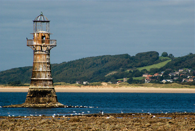 The Whiteford Lighthouse on top of its concrete platform. Author:Su LongCC BY-ND 2.0