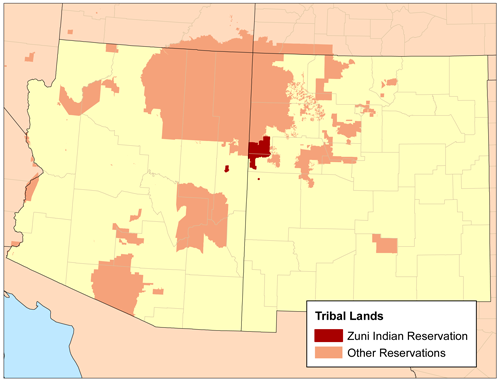 Zuni Indian Reservation/ Author: Kmusser – CC BY-SA 3.0