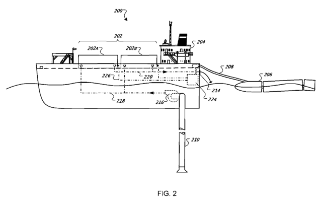 """Fig. 2, US Patent 7,525,207, """"Water-based data center"""" (Google Inc., 2009)"""