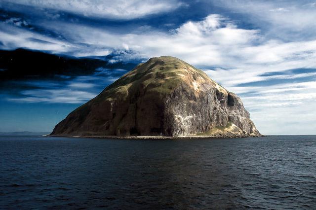 Ailsa Craig alone and abandoned. Author:Paul Hart (atomicjeep) from Glasgow, Scotland