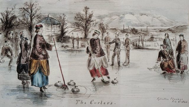 An example of curling from 1860. Author:Roger Griffith