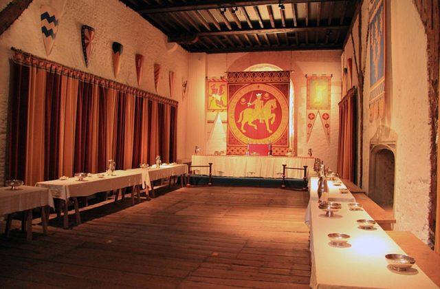 Authentic castle interior. Author:Karen Roe from Bury St Edmunds, Suffolk, UK, United KingdomCC BY 2.0