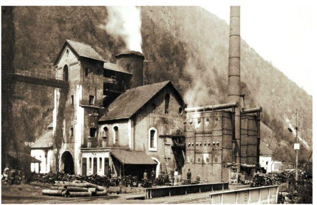 The blast furnace in full use 1890.