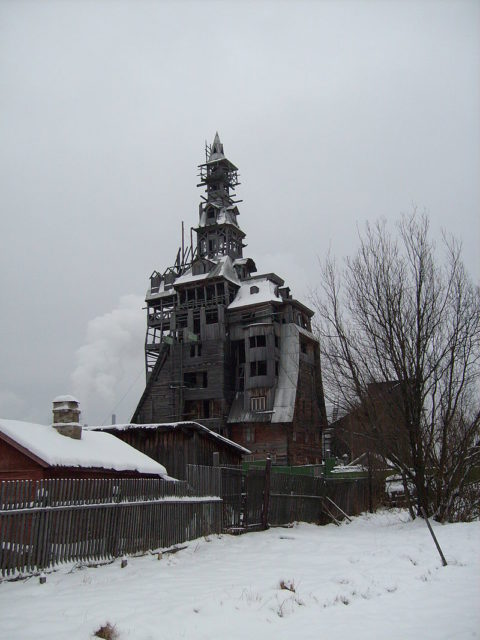 It was considered the tallest wooden house in the world.