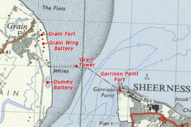 Map of the fortifications. Author:Ordnance Survey