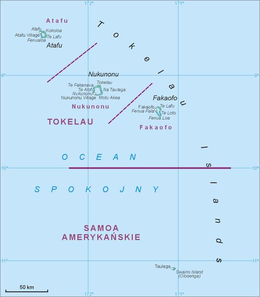 Map of the Tokelau Islands. Author:AotearoaCC BY-SA 3.0
