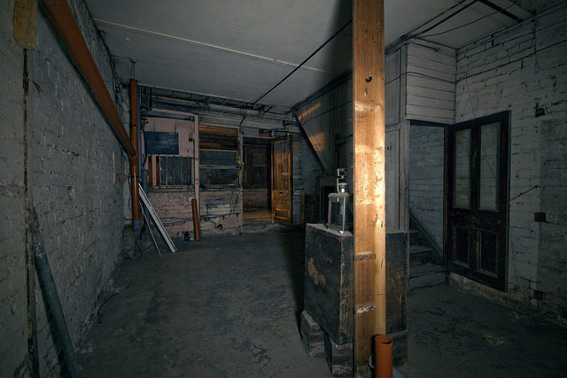 One of the abandoned underground stores different angle. Author:simon sugdenCC BY 2.0