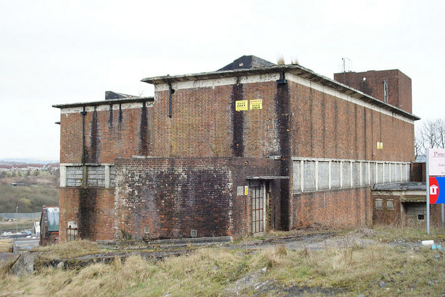 One of the buildings at Penallta Colliery. Author:Chris SampsonCC BY 2.0