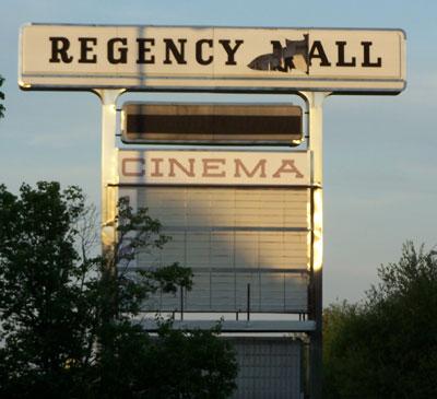 Regency Malls Marquee Sign on Deans Bridge Rd.